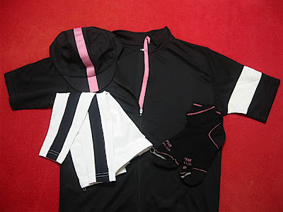 Rapha Jersey (with arm warmer), Cap, Socks