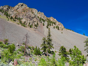Photo: Here's a wider view of the talus slides I mentioned in this post (http://goo.gl/3LMmp).  Keremeos and Cawston have many spectacular slides like this!  Here's an interesting fact about the local talus slopes:  before Europeans arrived in the area it was common practice for the local first nations to bury their deceased in the the talus!  Graves were marked with sticks and contained all manner of grave goods for the deceased's life in the Afterworld.  Talus burials continued into the early part of the twentieth century when they were abandoned for Christian burials in cemteries!  #LandscapePhotography +Margaret Tompkins (et. al.)