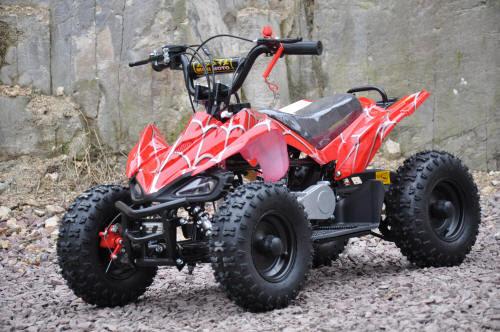 49cc sports raptor quad bike atv kids quad 2 stroke motoworks sale cheap offroad red