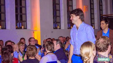 Photo: DGPuK 2014 Gala-Abend in der Innsteg-Aula  Preisverleihung: Bester Tagungsbeitrag: 1. Platz: Julian Ausserhofer und Christian Katzenbach   Foto: Janertainment Janine Amberger