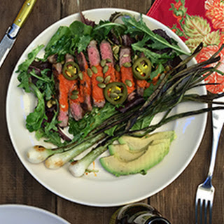 Steak and Avocado Salad.