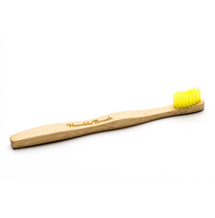 Humble Brush bambutandborste för barn, extra mjuk, gul