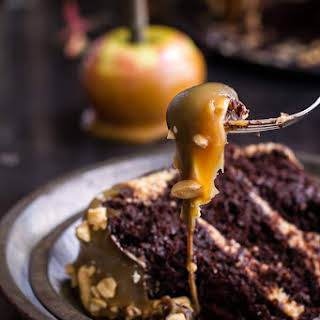 Salted Caramel Apple Snickers Cake..