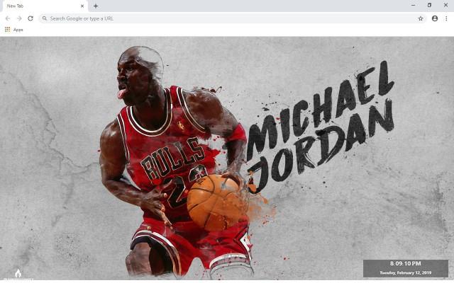 Michael Jordan NBA New Tab