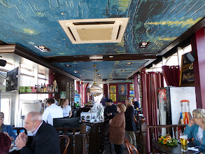 Photo: The Van Gogh cafe-- note the ceiling