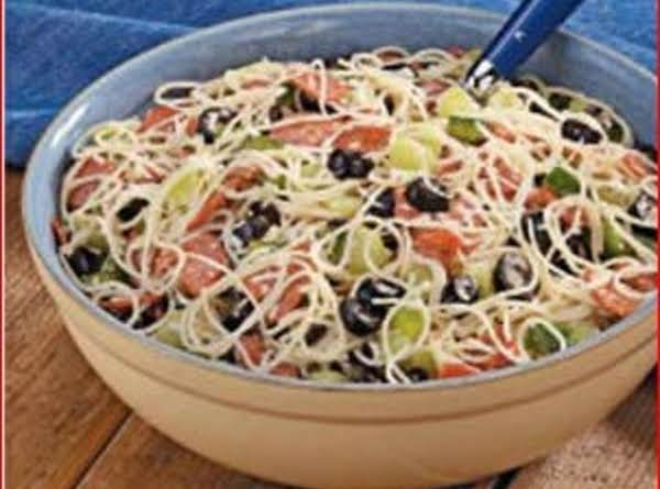 Pepperoni Angel Hair Salad Recipe