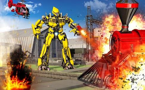 Futuristic Train Transforming Robot Games 5