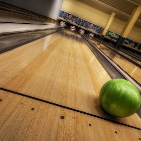 Only girls play the 11 by Matthias Weigel - Sports & Fitness Bowling ( strike, hdr, bowling, 11, lane )