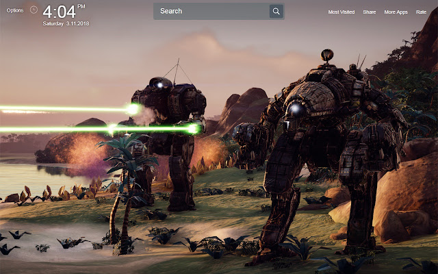 BattleTech Wallpapers Theme New Tab