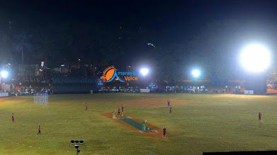 Photo: Our college cricket ground during day night cricket matches organized by eenadu