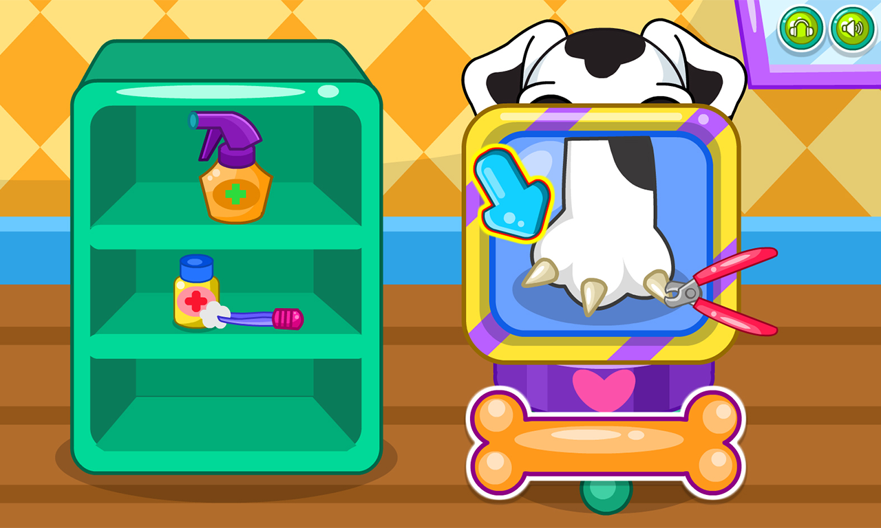 Caring for puppy salon- screenshot