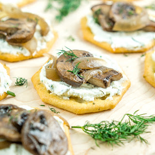 Whipped Feta with Truffled Mushrooms Appetizer.