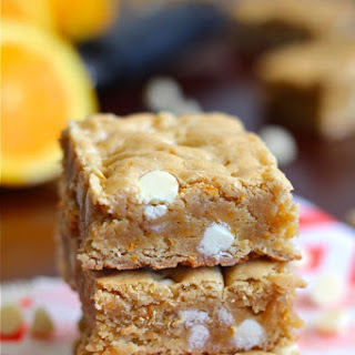 Orange Dreamsicle Chewy Cookie Bars