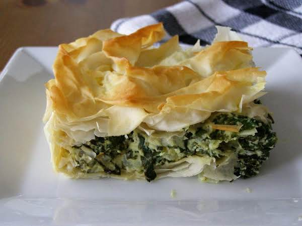 Great Hot Or Cold, Spanakopita (greek Spinach Pie) Is Delicious!