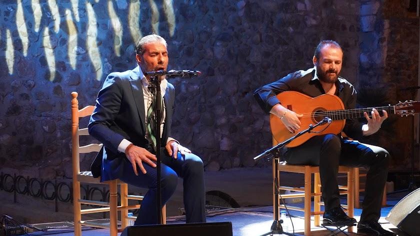 Pedro El Granaíno durante una actuación.