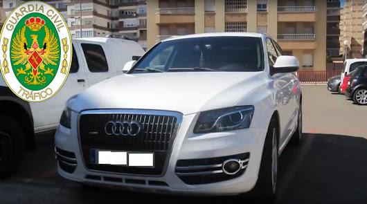 Vehículo decomisado en la Operación Flyna en Almería