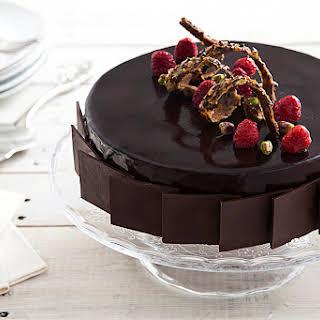 Chocolate, Pistachio and Raspberry Cake.