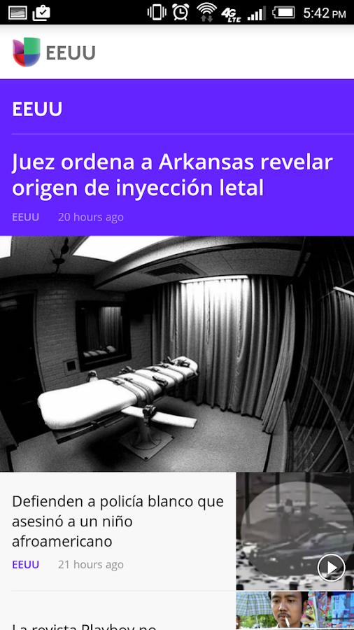 Noticias Univision- screenshot