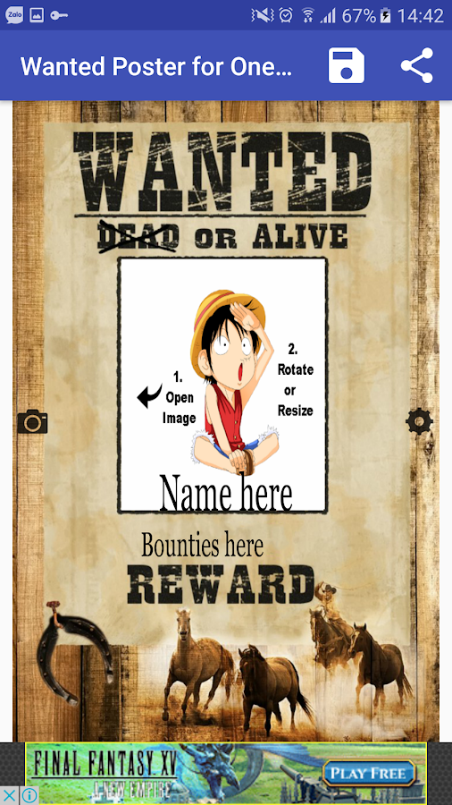 Pirate Wanted Poster Maker for One Piece Fan Android Apps on – Free Wanted Poster Maker