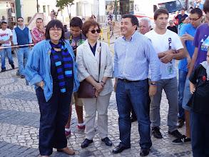 Photo: Jorge Botelho, Presidente da Câmara Municipal de Tavira, com Manuela Brito da Mana e Paula Brito da Mana