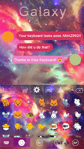 Galaxy Emoji keyboard Theme screenshot 1