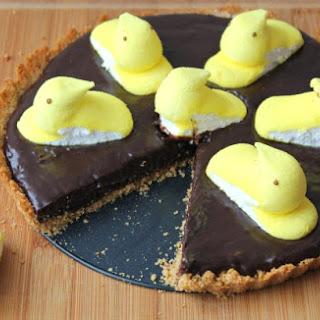 Easter Peeps Chocolate Tart.