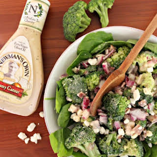 Healthy Broccoli Salad with Bacon.