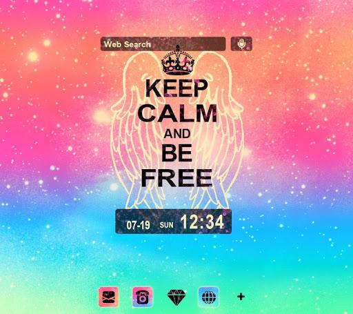 背景圖片 KEEP CALM AND BE FREE