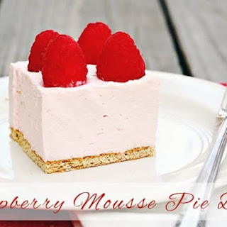 Raspberry Mousse Pie Bars.