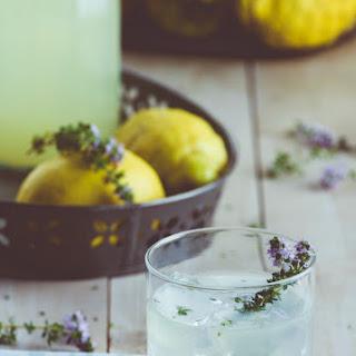 Gin Thyme Lemonade.