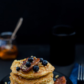 Almond Vanilla Pancakes with Cinnamon Bananas