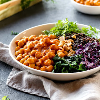 Masala Chickpea Buddha Bowl Recipe