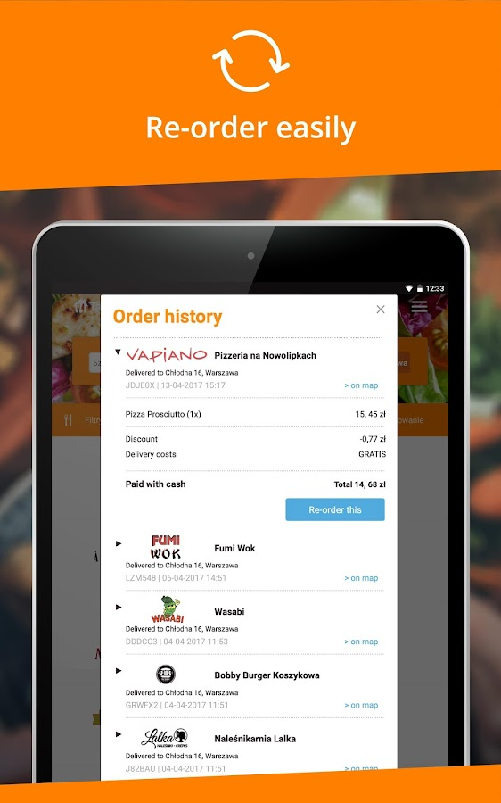 Pyszne.pl – order food online- screenshot