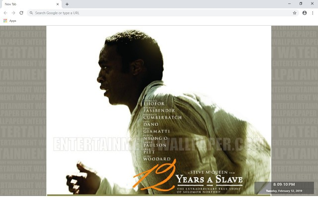12 Years a Slave New Tab Theme
