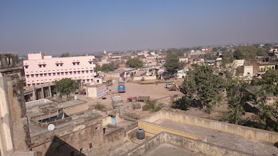 Photo: view from a roof top of an old haveli house, mandawa
