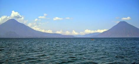 Photo: Two of the volcanoes around Lake Atitlan.