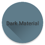 Dark Material theme for LG V20 Icon