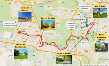 Photo: Itinéraire - E-guide balade à vélo de Versailles à Meudon par veloiledefrance.com - 19 km  Bike route - Bike ride e-guide from Versailles to Meudon by veloiledefrance.com - 19 km