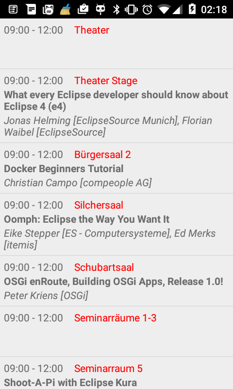 EclipseCon- screenshot