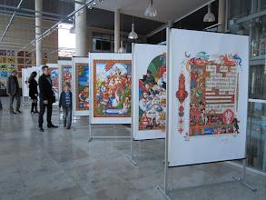 Photo: Przed aulą akurat wystawa ilustracji Artura Szyka do Statutu kaliskiego