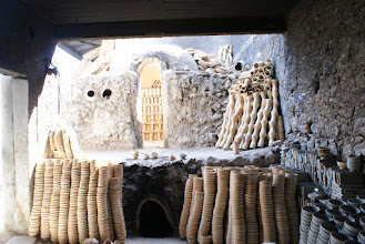 Photo: Ceramic oven with loads of pottery, Fes
