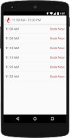 Screenshot of GiveBlood