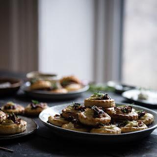 Boursin & Caramelized Onion Tartlets.