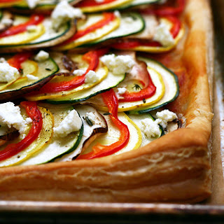 Ratatouille Tart.