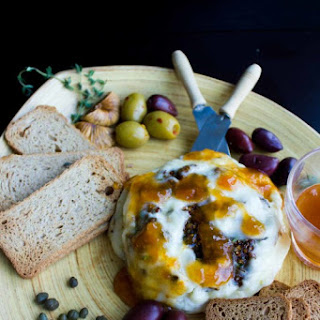 Fig Olive Tapenade Stuffed Brie