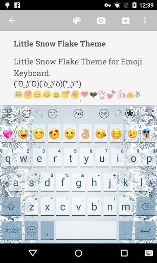 2016 First Snow Emoji keyboard