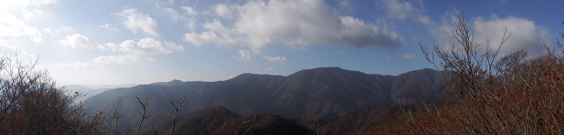 蝿帽子嶺からパノラマ