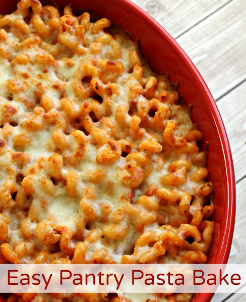 This easy pasta bake recipe is perfect for night's when you're short on time, as everything you need is likely already in your pantry!