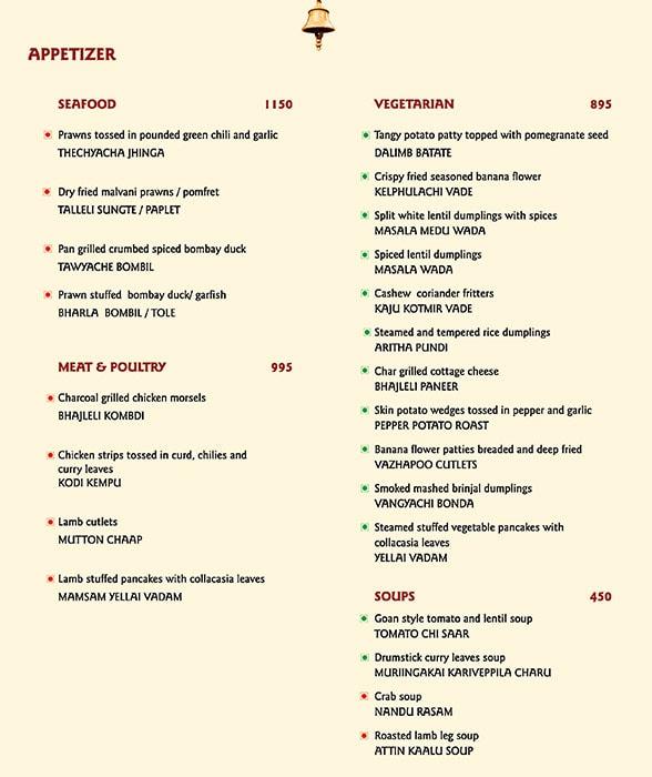 The Konkan Cafe, Vivanta By Taj President menu 4