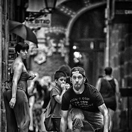 Streets Of Barcelona by Marco Bertamé - Black & White Street & Candid